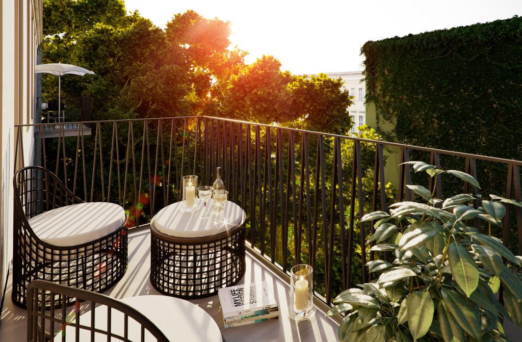 Rendering-Balkon