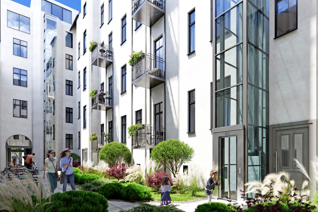 Projekt Bismarcklinde Innenhof